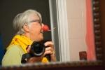 Pat's radish nose selfie.